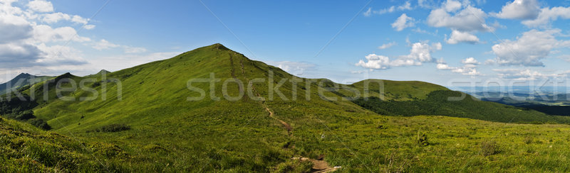 Montanhas panorâmico panorama prado Foto stock © pixelman