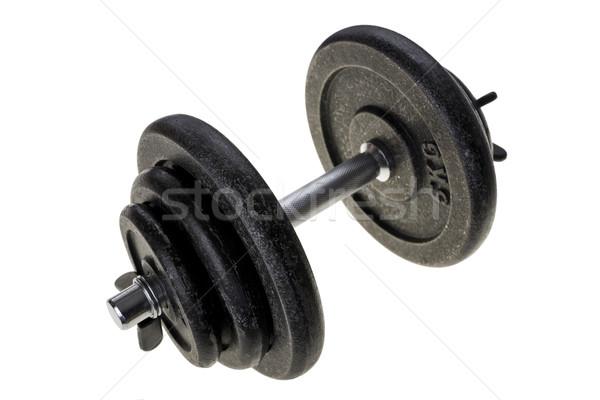 Noir lourd fitness gymnase muscle Photo stock © pixelman