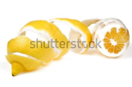 Lemon with peel Stock photo © pixelman