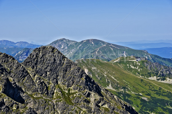 View of the peak Koscielec and Kasprowy in the Polish Tatras Stock photo © pixelman