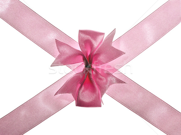 Cinta aislado blanco cruz regalo rosa Foto stock © pixelman