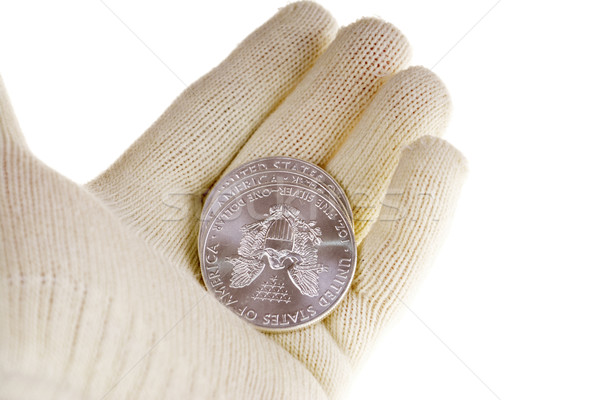 Silver bullion coin investment, American Eagle Stock photo © pixelman