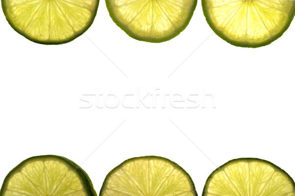 Cadre chaux isolé fruits fond été Photo stock © pixelman