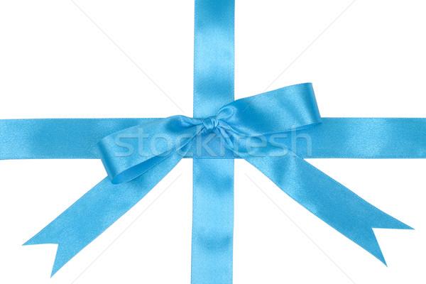 Decoração fita azul branco natal Foto stock © pixelman