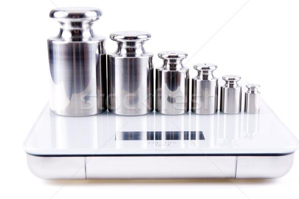 Peso prata isolado branco aço saldo Foto stock © pixelman