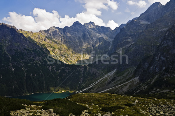 Vista lago valle ojo negro mar Foto stock © pixelman