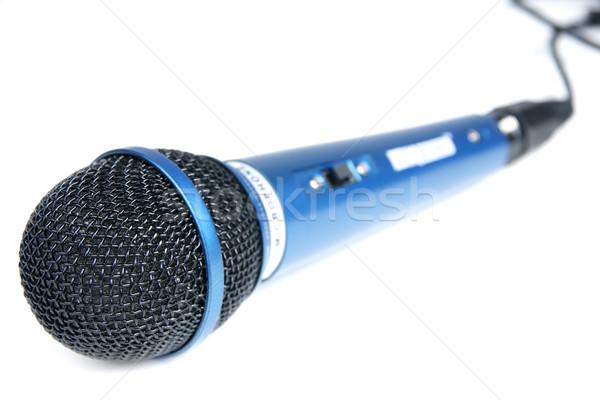 Micrófono azul grande karaoke música tecnología Foto stock © pixelman
