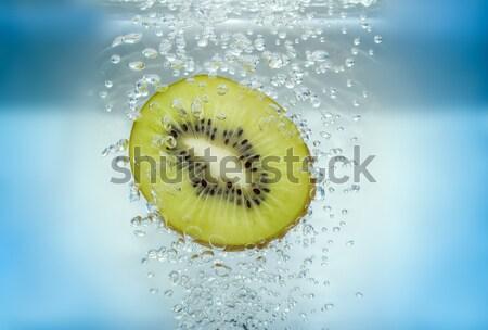 Kivi dilim su meyve içmek Stok fotoğraf © pixelman