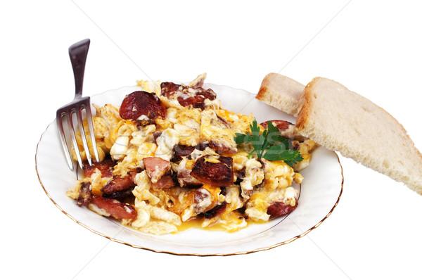 Scrambled eggs Stock photo © pixelman