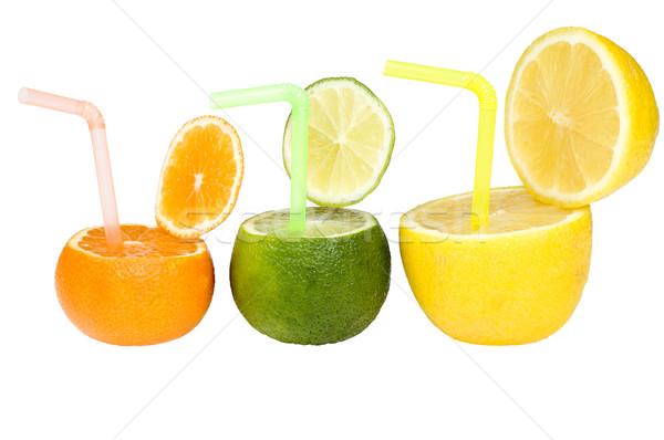 Renkli soyut meyve içmek üç narenciye Stok fotoğraf © pixelman