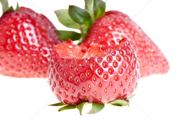 çilek yalıtılmış beyaz gıda arka plan kırmızı Stok fotoğraf © pixelman