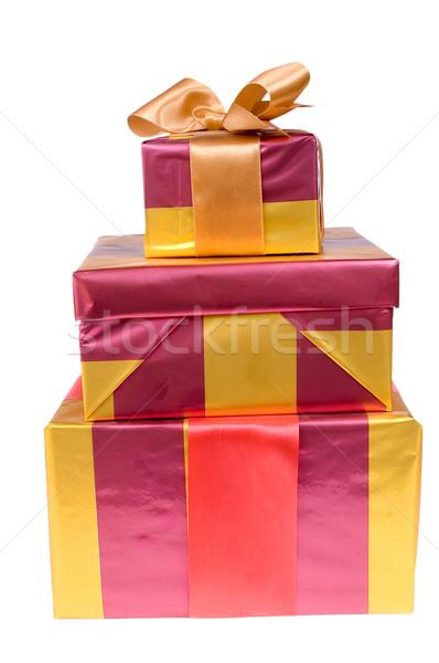 Noël cadeaux isolé blanche cadeau Photo stock © pixelman