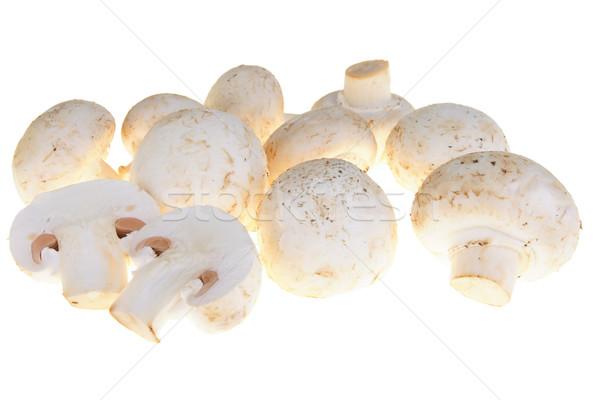 Cogumelo branco cogumelos isolado caminho Foto stock © pixelman