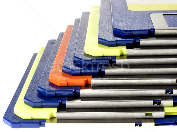 Ordinateurs bleu données écrire disque Photo stock © pixelman