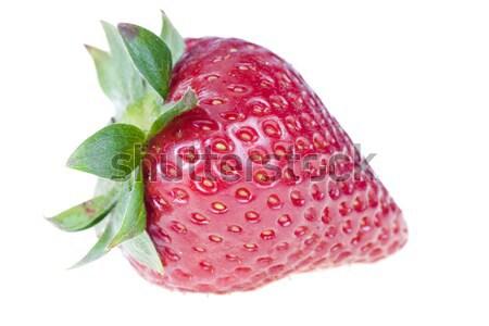 Morango isolado branco comida fundo vermelho Foto stock © pixelman
