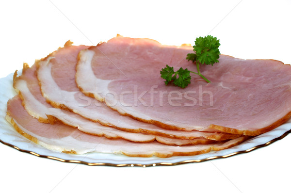 Presunto fatia prato gordura branco mercearia Foto stock © pixelman
