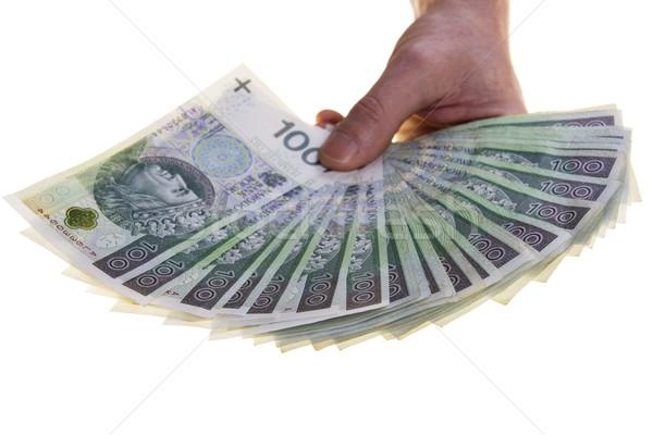 Waluta sto strony odizolowany biały Zdjęcia stock © pixelman