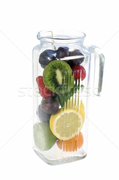 Fruits verre alimentaire citron Photo stock © pixelman