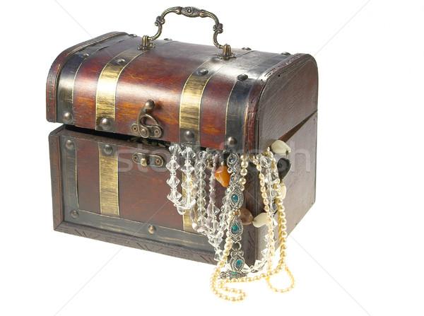 Antigo decoração caixa madeira ouro dom Foto stock © pixelman