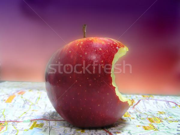 Manzana mapa naturaleza frutas frutas primer plano Foto stock © pixelman