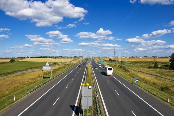 Polish motorway  A4  near Gliwice Stock photo © pixelman