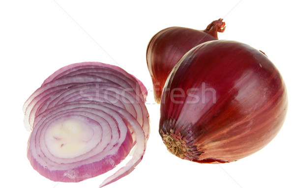 Red onion with path Stock photo © pixelman