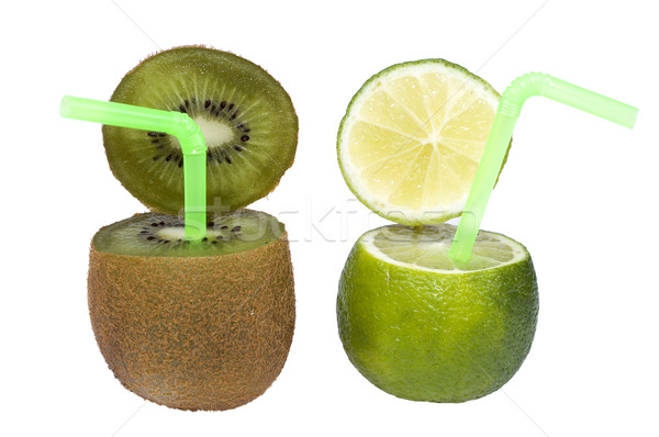 Lime and kiwi abstract fruit drink. Stock photo © pixelman