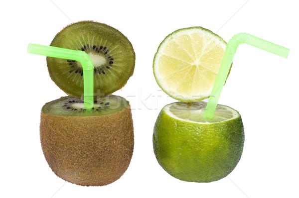 Chaux kiwi résumé fruits boire coloré Photo stock © pixelman