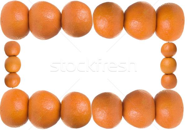 Mandarim quadro comida laranja branco fresco Foto stock © pixelman
