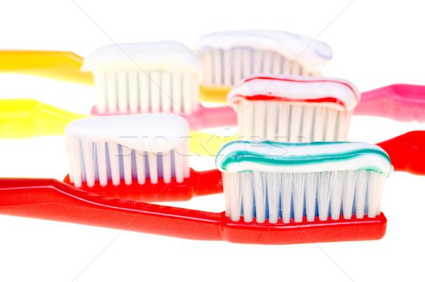 Brosse coloré couleur isolé blanche santé Photo stock © pixelman