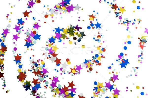 Natal confete estrelas círculo branco carnaval Foto stock © pixelman