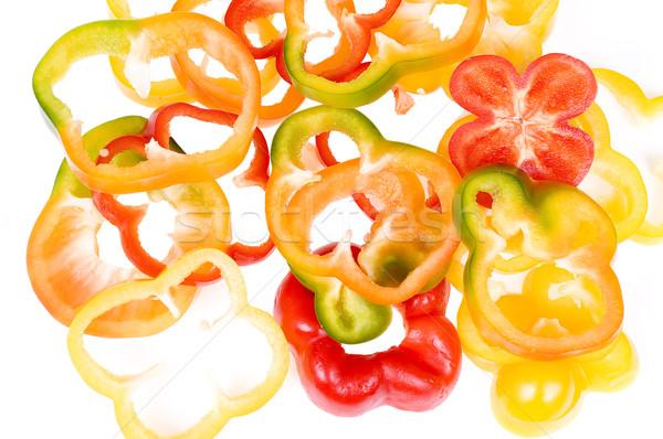 Piezas colorido corte aislado blanco Foto stock © pixelman