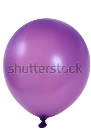 Mor balon büyük yalıtılmış beyaz Stok fotoğraf © pixelman