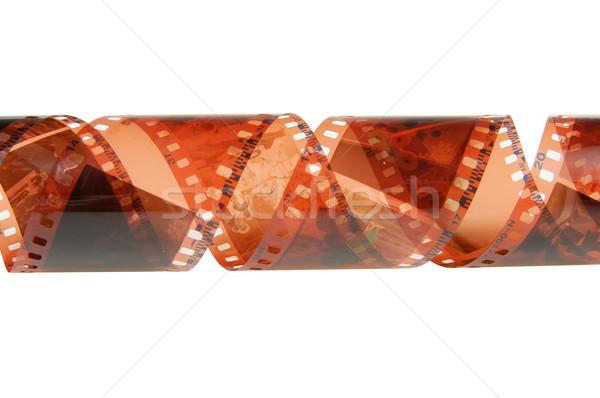 негативных фильма изолированный белый кадр Сток-фото © pixelman