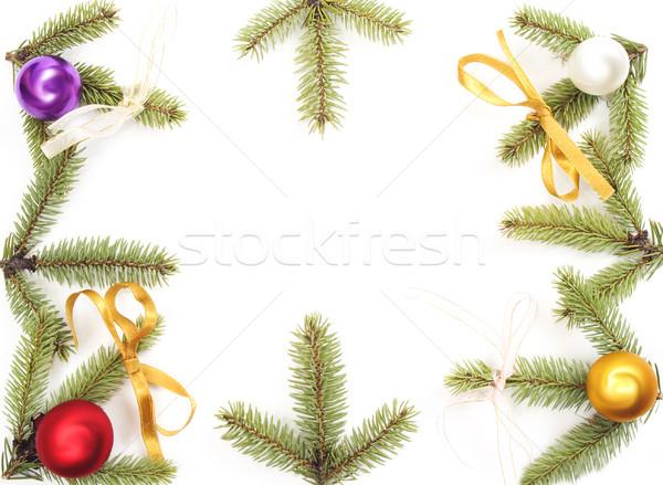 Noël décoration arbre de noël présente isolé verre Photo stock © pixelman