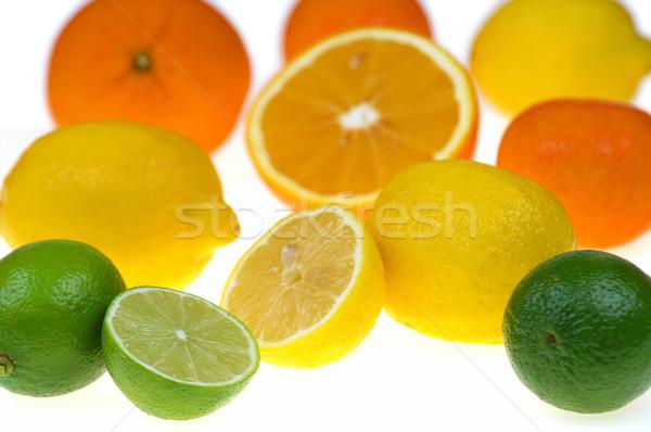 Cítrico frutas isolado branco fruto verde Foto stock © pixelman