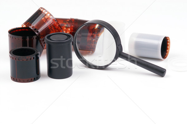 Magnifying glass and cliche Stock photo © pixelman