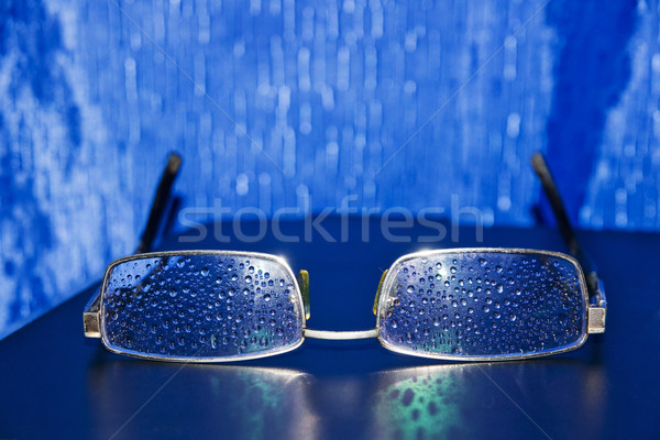 Spectacles of water droplets on the glasses Stock photo © pixelman