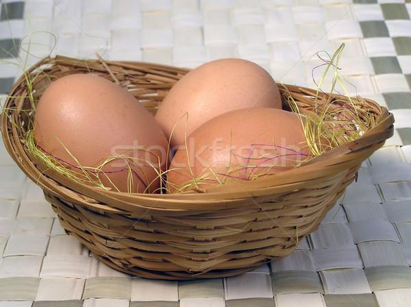 Ovo ovos cesta natureza frango produto Foto stock © pixelman