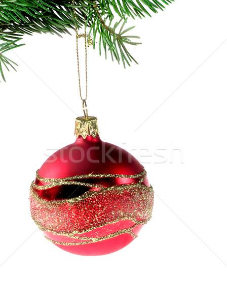 Noel zaman dekorasyon ağaç top altın Stok fotoğraf © pixelman