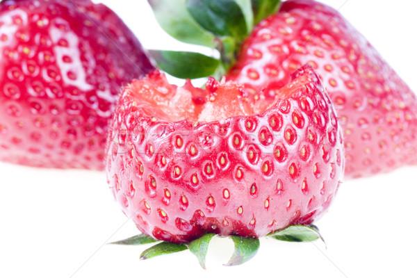Bitten strawberry, isolated on white Stock photo © pixelman