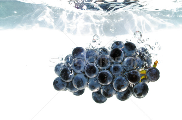Splash raisins vin nature fruits cadre Photo stock © pixelman