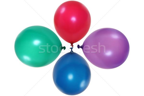 Balões colorido isolado branco azul vermelho Foto stock © pixelman