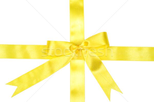 Décoration ruban jaune blanche Noël Photo stock © pixelman