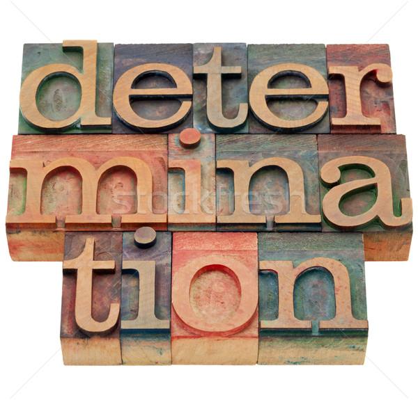 Determinazione parola tipo isolato abstract Foto d'archivio © PixelsAway