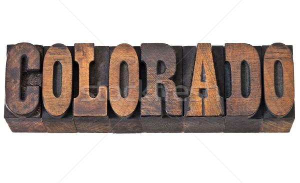 Stok fotoğraf: Colorado · batı · stil · tip · yalıtılmış · kelime