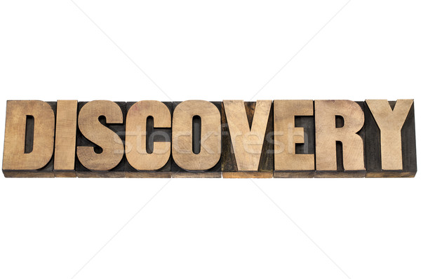 discovery word in wood type Stock photo © PixelsAway