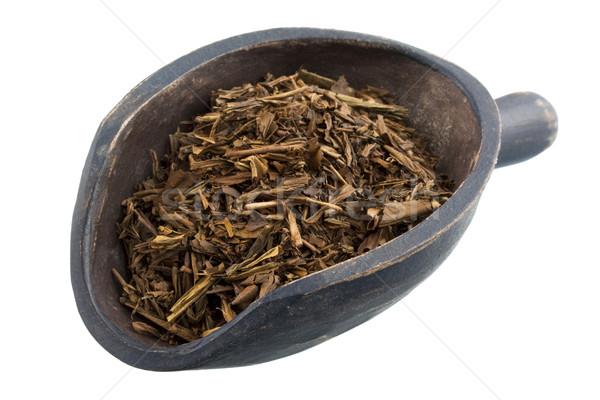 scoop of full leaf loose roasted Japanese green tea Stock photo © PixelsAway