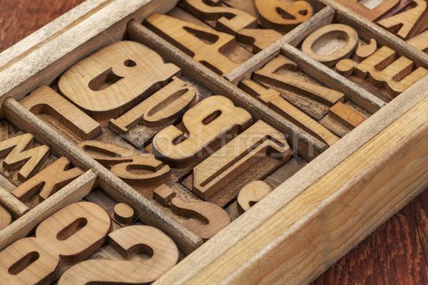letterpress wood type abstract Stock photo © PixelsAway