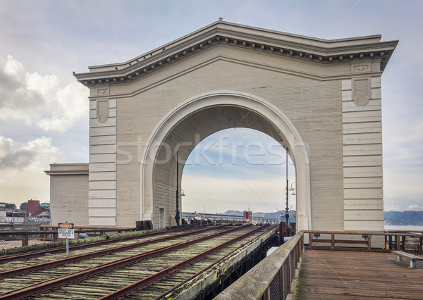 Stock photo: old rail ferry terminal in San Francsico